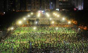 Thousands of Hongkongers Defy Police Ban to Commemorate Tiananmen Square Massacre