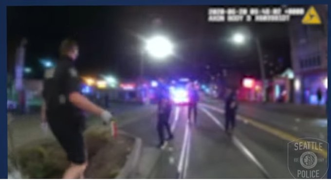 Seattle Police Post Video of CHAZ CHOP Mob Blocking Cops From Responding to Deadly Shooting, Forcing Retreat by Officers
