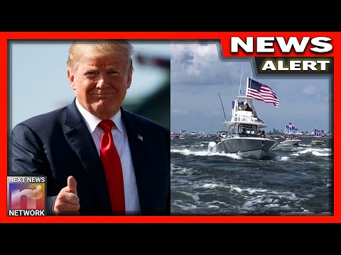 AWESOME! Patriotic Americans Honor President Trump With EPIC Birthday Boat Parades