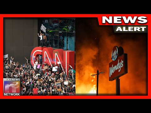HOLY COW! CNN Crew Attacked by Rioters in Atlanta - Beaten at Wendy's!