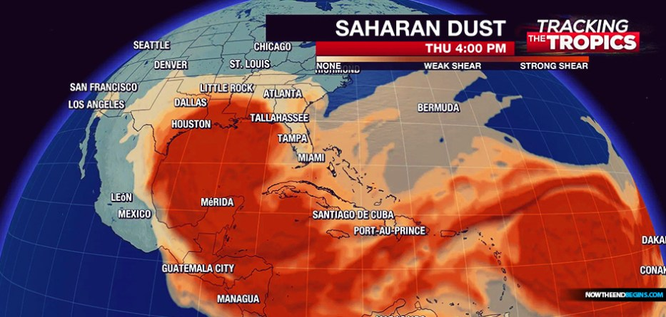 Revelation Style Dust Cloud Is Moving Towards The United States
