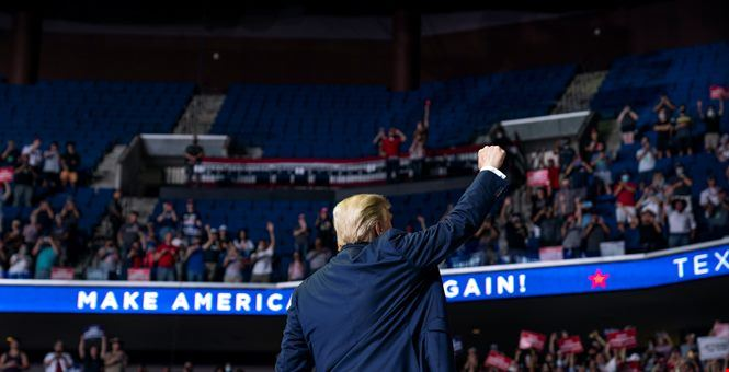 """Report: Trump """"livid"""" about underwhelming rally turnout"""