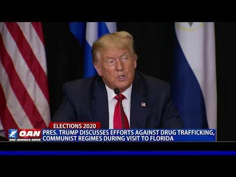 President Trump discusses efforts against drug trafficking, communist regimes